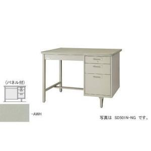 ナイキ 片袖デスク パネル付  SD601PN-AWH|offic-one