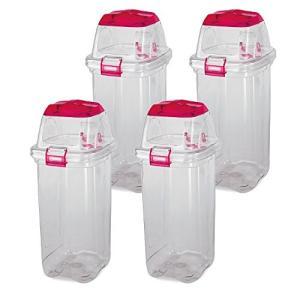 コクヨ   リサイクルボックス PF-EW45 45リットル透明タイプ 一般用  4個セット  幅33.8×奥行40.5×高さ76.5CM ピン|offic-one