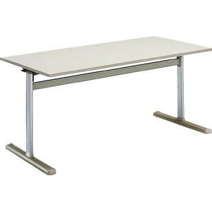 コクヨ   会議 ミーティング用テーブル KT-700シリーズ  薄型キャスタータイプ  天板フラップ式 パネルなし 直線 幅1500×奥|offic-one