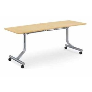 コクヨ   会議用テーブル KT-810シリーズ ミーティング用テーブル パネルなし 棚付き 幅1800×奥行き450×高さ700MM カラ|offic-one