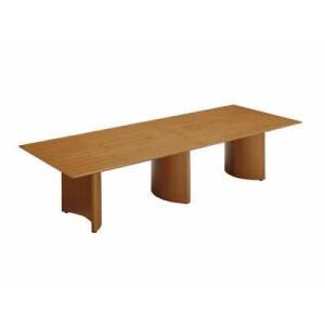 コクヨ   応接会議テーブル ロラン テーブル 幅3200×奥行き1200×高さ720MM カラー T3D ウェンジブラウン|offic-one