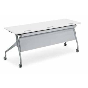 コクヨ   会議用テーブル エピファイ 会議用テーブル 天板フラップ式 配線キャップなし パネルなし 直線タイプ 幅1200×奥行き60 offic-one