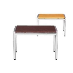 アイコ 応接テーブル コーナーテーブル 幅665×奥行き600×高さ450MM 天板カラー マホガニー|offic-one