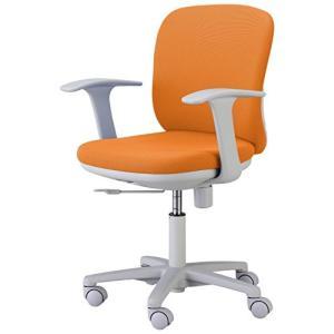 くろがね   オフィスチェア SVチェア SV110F 固定アーム付 12色 オレンジ|offic-one