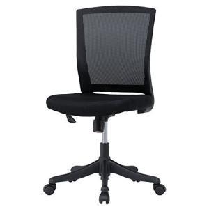 井上金庫 メッシュ オフィスチェア 肘なし キャスター付き 事務椅子 メッシュチェア 椅子 いす DO-0002  BK ブラック|offic-one