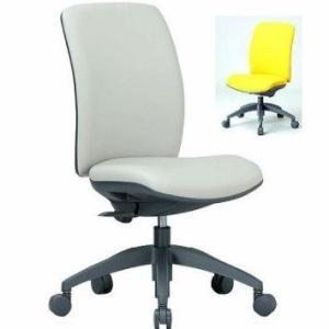 アイコ 事務椅子 ミドルバック肘なしタイプ オフィス チェア 布と抗菌レザーから OA-2125 座W480 H895 FG3黄YE|offic-one