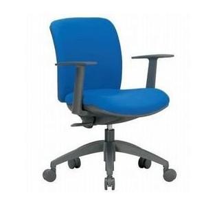 アイコ 事務椅子 ローバック肘付きタイプT型肘 OA チェア オフィス チェア OA-2115TJ座W480 H800    VG1PブルーPB|offic-one