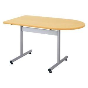 生興   テーブル FGX型会議用テーブル W1200×D750×H700 脚間L732 T字脚タイプ 片R FGX-1275KR ホワイト|offic-one