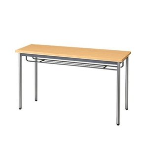 生興   テーブル MTS型会議用テーブル W1200×D450×H700 4本脚タイプ 棚付 MTS-1245IT ペールアルダー|offic-one