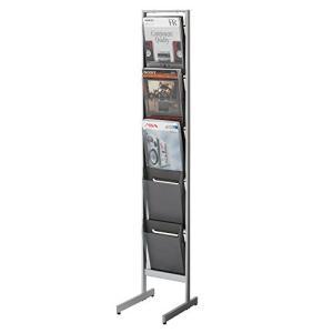 コクヨ  配送・組立・設置込    パンフレットスタンド ZR-PS311 片面 A4サイズトレー厚型 幅27.6×奥行35×高さ152.5CMの商品画像|ナビ