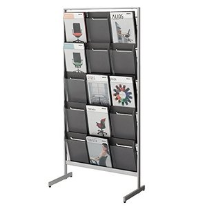コクヨ  配送・組立・設置込    パンフレットスタンド ZR-PS313 片面 A4サイズトレー厚型 幅75.8×奥行35×高さ152.5CMの商品画像|ナビ