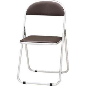 トキオ     パイプ椅子 シリンダ機能付 アルミパイプ ブラウン CF-700-BR 型式 CF-700-BR|offic-one