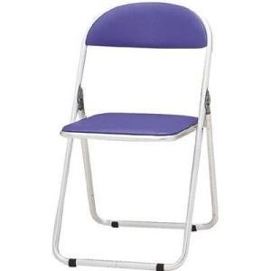 トキオ     パイプ椅子 シリンダ機能付 アルミパイプ ブルー CF-700-BL 型式 CF-700-BL|offic-one