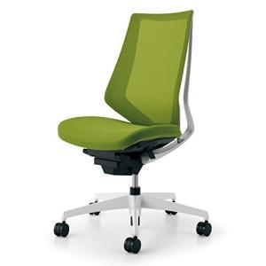 コクヨ   オフィスチェア デュオラ CR-GW3000E1KZQ4-W ハイバック ホワイト樹脂脚 ホワイトフレーム ライトオリーブ|offic-one