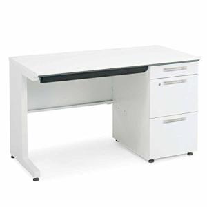 コクヨ  配送・組立・設置込    オフィスデスク ISデスクシステム SD-ISN126LCASPAWNN 片袖机 幅120×奥行60 ホワイト|offic-one