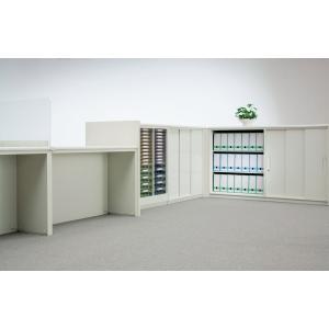 ライオン事務器 品番32050 ハイカウンター(H970mm) W900直線タイプ 天板・フロントパネル・ベースセット フロントパネルカラー ホワイト|offic-one