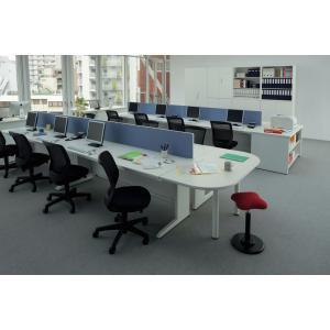ライオン事務器 品番40742 平机(H720mm) 中央引出し付タイプ LDV-M207FS-MW|offic-one