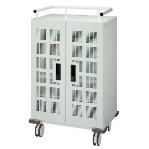 ライオン事務器 品番76658 タブレット・スレートPC充電収納保管庫 キャスター型(20台・一括収納) TPC-20TC|offic-one
