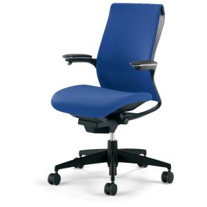 コクヨ品番 CR-G2211F6BGGT5-W オフィスチェア M4 可動肘 樹脂脚 ブラックシェル W680xD580xH920 M4|offic-one