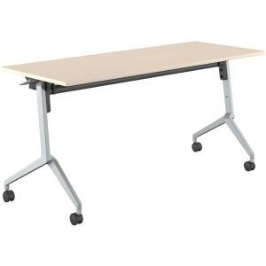 コクヨ品番 KT-S1203M10N 会議テーブル リーフライン 幕板なし棚付 W1500xD600xH720 リーフライン|offic-one
