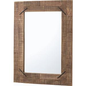 ミラー ウッドミラー 壁掛け おしゃれ かっこいい 木枠 木製 インテリア 天然木 アイアン おすすめ ラッカー塗装 office-arrows