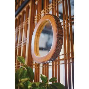 ミラー ウッドミラー 壁掛け おしゃれ かっこいい 木枠 木製 インテリア 天然木 天然木 マホガニー 安い おすすめ ウレタン塗装 3mmミラー office-arrows