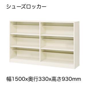 シューズロッカー シューズBOX シューズボックス 下駄箱 2列3段 15人用 玄関 スチールタイプ 日本製 完成品 オープンタイプ|office-arrows