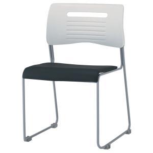 スタッキングチェア スタックチェア ミーティングチェア 会議チェア オフィスチェア 食堂用チェア 座面PVC張り 取っ手付き 同色4脚セット販売|office-arrows