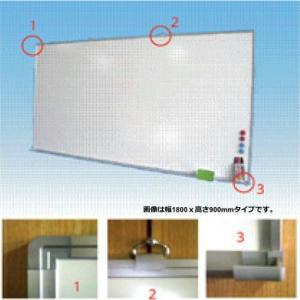 ホワイトボード 無地 壁掛け 白 国産 180cmx90cm 法人様限定 スチール板面|office-arrows