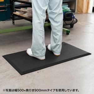 疲労軽減マット 作業マット 冷え防止 幅50cm奥行90cm厚さ1.7cm クッションマット 耐水 耐油 耐菌|office-arrows