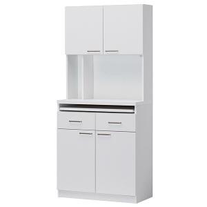 食器棚 ビジネスキッチン オフィスキッチン レンジ台 スライド棚 2口コンセント付 キッチン収納 レンジボード 給湯室 ホワイト 白 オフィス 事務所|office-arrows