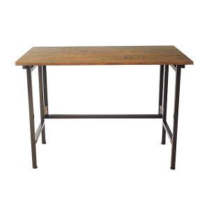 テーブル 折りたたみ デスク フラップ 作業机 作業テーブル 作業台 リビング おしゃれ かっこいい スチール PVC 木目 ビンテージ 幅100cm office-arrows