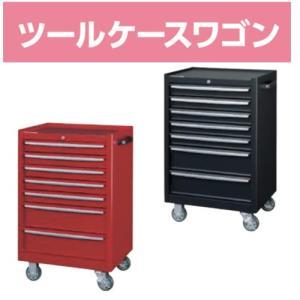ローラーキャビネット 7段(浅型5段・深型2段)  おしゃれな工具箱 ツールボックス  レッドorブラック Φ100ウレタンキャスター(自在ストッパー2個・固定2個)|office-arrows