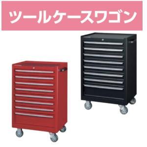 ローラーキャビネット 8段(浅型7段・深型1段)  おしゃれな工具箱 ツールボックス  レッドorブラック Φ100ウレタンキャスター(自在ストッパー2個・固定2個)|office-arrows