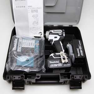 マキタ(Makita) 充電式インパクトドライバ(白) 18V 6Ah バッテリ2本・充電器・ケース付 TD171DRGXW|office-create2
