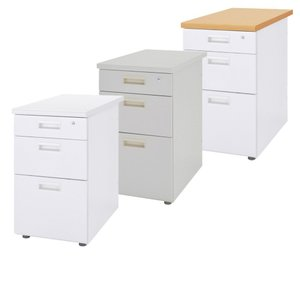 デスク オフィスデスク スチールデスク 脇机 3段 鍵付き W400 D700 H700 デスクキャビネット サイドキャビネット 脇デスク スチール製 Y-OFD-047-3 office-kagg