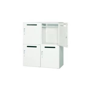 バリエーション豊かなシステム収納庫です。人気のホワイトカラー。