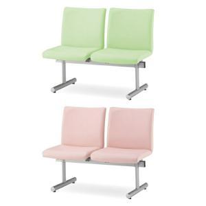 ロビーチェア ロビーベンチ 待合椅子 2人用 背あり W1130 D645 H780 SH410 ビニールレザー張り Y-KTC-200-V office-kagg