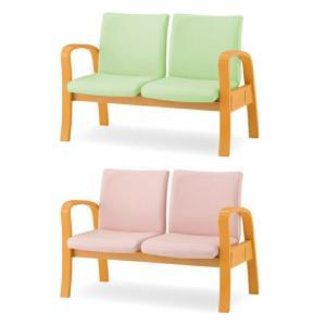 ロビーチェア ロビーベンチ 待合椅子 2人用 背あり W1130 D645 H780 SH410 ビニールレザー張り Y-MTC-200A-V office-kagg