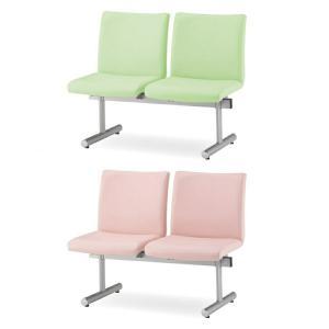 ロビーチェア ロビーベンチ 待合椅子 2人用 背あり W1130 D645 H780 SH410-380 ビニールレザー張り Y-KTC-200-V office-kagg