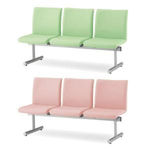 ロビーチェア ロビーベンチ 待合椅子 3人用 背あり W1640 D645 H780 SH410-380 ビニールレザー張り Y-KTC-300-V office-kagg