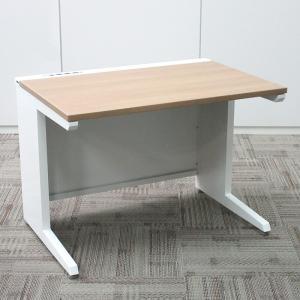 送料無料!オカムラ オフィスデスク アドバンス型 W1000平机 (天板ネオウッドミディアム) マルチコンセントユニット付|office-kagu-tops