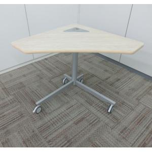 会議用 ミーティングテーブル フレキシブルテーブル キャスター付 会議テーブル 三角 おしゃれ |office-kagu-tops