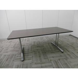 オカムラ 会議用 インターレイス 会議テーブル 天板ペアウッドダーク|office-kagu-tops