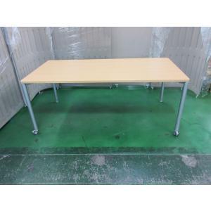オカムラ 会議用 アプションフリー フレキシブルテーブル スクエアタイプ 天板ネオウッドライト|office-kagu-tops