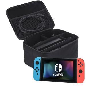 Nintendo Switch(ニンテンドースイッチ)本体と周辺機器をまとめて収納・持ち運びできる大...