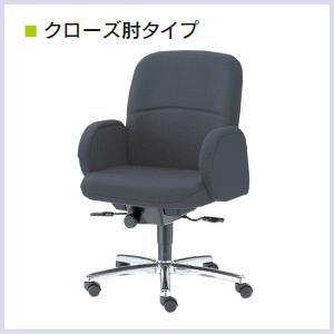ウチダ 高級チェア EX-200シリーズ クローズ肘タイプ EX-201N ローバック 布張り 1-229-203□ 【送料無料】 office