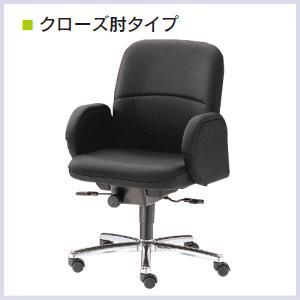 ウチダ 高級チェア EX-200シリーズ クローズ肘タイプ EX-206L ローバック コラーゲン入りレザー張り 1-229-2060【送料無料】 office