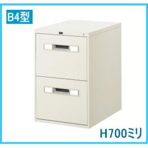 ウチダ ファイルマスター B4・2段 W456×D620×H700ミリ 1-307-7812【送料無料】|office