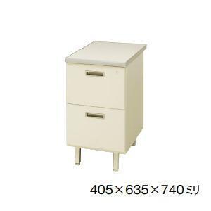 日本製・完成品 100CGシリーズ 脇机・脇デスク(2段タイプ) W405×D635×H740ミリ 100CG-800-2N 【送料無料】|office